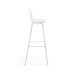 Барный стул Lysna пластик белый, La Forma (ex Julia Grup)