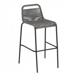 Барный стул Glenville 100 см серый, La Forma (ex Julia Grup)