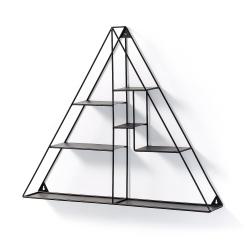 Настенная полка Neth металлическая черная, La Forma (ex Julia Grup)