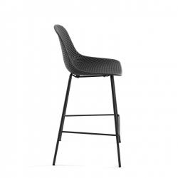 Полубарный стул Quinby серый, La Forma (ex Julia Grup)