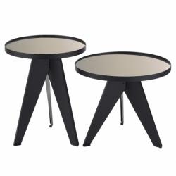 Набор кофейных столиков Carrero зеркальный золотистый, 2 шт., Berg