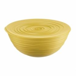 Миска с крышкой tierra 25 см желтая, Guzzini