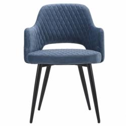 Кресло Burgos велюр голубое, Berg