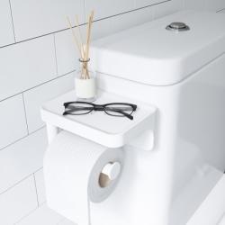 Держатель для туалетной бумаги с полочкой Flex белый, Umbra
