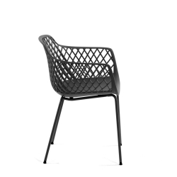 Стул-кресло Quinn темно-серый, La Forma