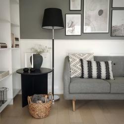 Лампа напольная Venice черная, Frandsen