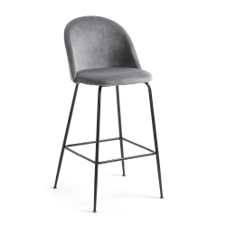Барный стул Mystere серый