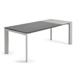 Стол Atta 160 (220) x 90 серый керамический