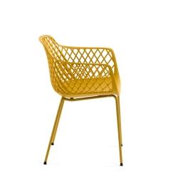 Стул-кресло Quinn желтый