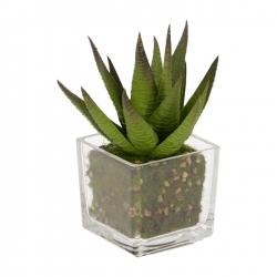 Flower Искусственное растение в стеклянном горшке 15см