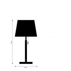 Лампа настольная Venice белая, хром, Frandsen