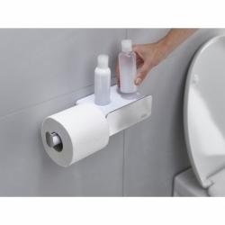 Держатель для туалетной бумаги с отсеком для хранения EasyStore Steel