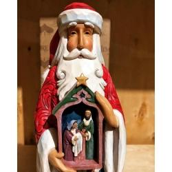 Статуэтка Дед Мороз и Святое Семейство