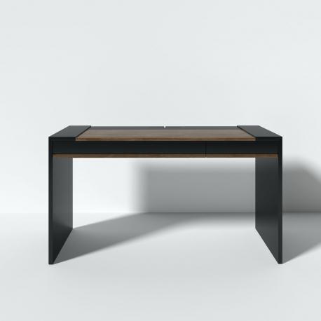 Рабочий стол Mass 140 см черный, BraginDesign