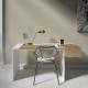 Рабочий стол Mak 140 см белый, BraginDesign