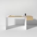 Рабочий стол Mak 160 см белый, BraginDesign