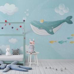 Обои для детской комнаты Киты 1, Mondeco