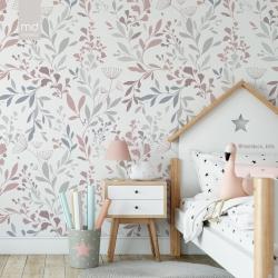 Обои для детской комнаты Цветы 1, Mondeco