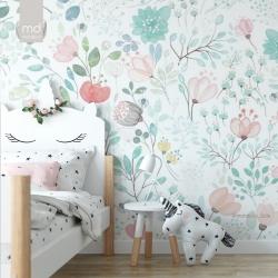 Обои для детской комнаты Цветы 4