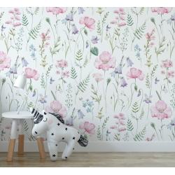 Обои для детской комнаты Цветы 5, Mondeco