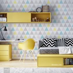 Обои для детской комнаты Треугольники 2