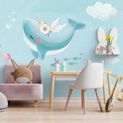 Обои для детской комнаты Киты 2, Mondeco