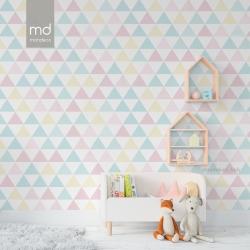 Обои для детской комнаты Треугольники 5, Mondeco