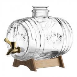 Диспенсер для напитков Barrel на подставке 3 л в подарочной упаковке, Kilner