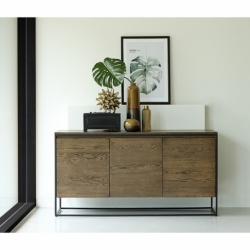Комод Unique Furniture Rivoli, 3 секции, 155х45х80 см