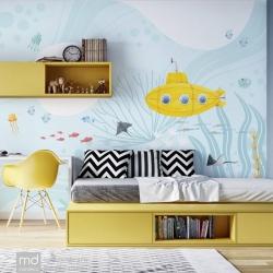 Обои для детской комнаты Жёлтая Субмарина, Mondeco