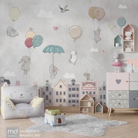 Обои для детской комнаты Зайчата, Mondeco