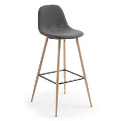 Барный стул Nilson темно-серый CC0276J15, La Forma