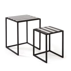 Набор 2х столиков Skerry мраморная столешница, La Forma