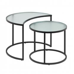 Набор из 2 приставных столиков Bast Ø 65 cm / Ø 47 cm