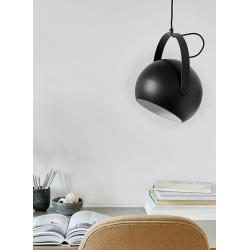Лампа потолочная Ball с подвесом D19 см черная матовая, Frandsen