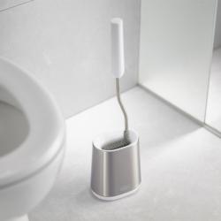 Ёршик для унитаза Flex Lite нержавеющая сталь белый