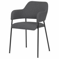 Кресло Berg Wendy 54х53х82,5 см темно-серое