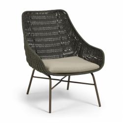 Кресло Abeli из зеленой веревки, La Forma