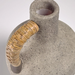 Agle Серая керамическая ваза 35 cm