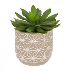 Flower Искусственный кактус в цементном горшке 23.7 см
