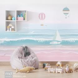 Бесшовные детские обои Море, Mondeco