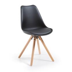 Комплект стульев Lars черный пластик (4 шт)