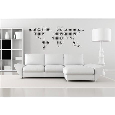 Интерьерная наклейка на стену Карта мира (круги)