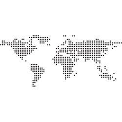 Интерьерная наклейка на стену Карта мира (пиксели)