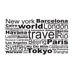 Интерьерная наклейка World Travel