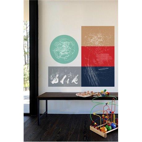 Наклейка на стену «Геометрия — мел»