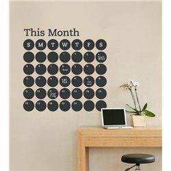Интерьерная наклейка для записей Календарь Rounds