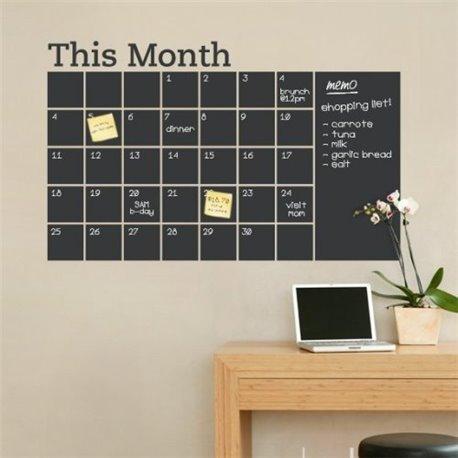 Интерьерная наклейка для записей Календарь Month