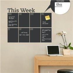 Интерьерная наклейка для записей Календарь Week