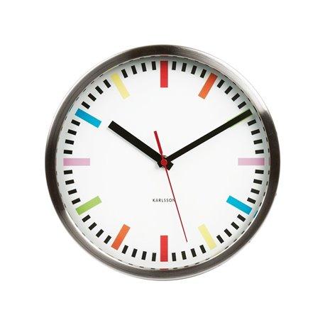 Настенные часы Karlsson Rainbow белые